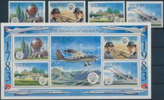 200th anniversary of Aviation set + block, 200 éves a repülés sor + blokk