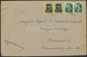 1945 (4. díjszabás) Nyomtatvány Hadvezérek 2x1P + Kisegítő 5P/8f bérmentesítéssel
