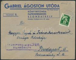 1945 (1. díjszabás) Cenzúrázott távolsági céges levél Hadvezérek 1P bérmentesítéssel