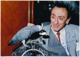 Kibédi Ervin színművész dedikált fotó. Karsai Sándor fotója 18x12 cm