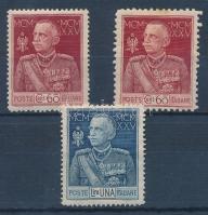 1925 II. Viktor Emánuel Mi 222 A-B, 223