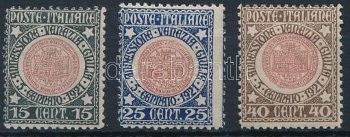 1921 Venezia Giulia tartomány megszállása sor Mi 138-140