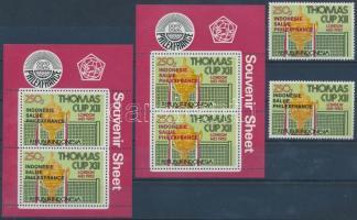 1982 Nemzetközi bélyegkiállítás 2 klf blokkból kitépett bélyeg Mi 1062 a-b + 2 klf blokk Mi 45 a-b
