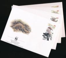 1995 WWF: Tobzoska sor Mi 795-798 4 db FDC-n