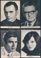 cca 1980 A budapesti József Attila Színház reklámlapjai híres színészek portréival (Mádi SZabó Gábor, Kránitz Lajos, Gobbi Hilda, VOith Ági, stb.), összesen 9 db, mind különböző