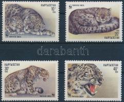WWF: Snow Leopard set + 4 FDC, WWF: Hópárducok sor + 4 db FDC