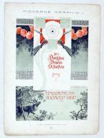 cca 1910 Vadászat, fegyverek szecessziós litho reklámgrafika. / Art nouveau advertising 27x36 cm