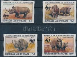 WWF Rhinos set + 4 FDC, WWF: Orrszarvúk sor + 4 db FDC