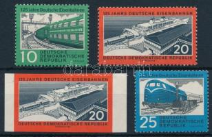 1960 Vasúti bélyeg sor Mi 804-806 A + 805 B