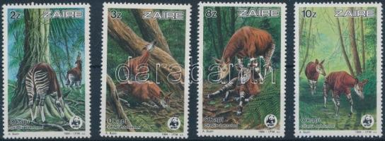 1984 WWF: Okapi sor Mi 875-878 + 4 db FDC