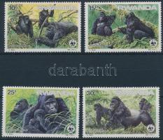 1985 WWF: Hegyi gorillák sor Mi 1292-1295 + 4 db FDC