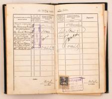 1904 Joghallgató leckekönyve számos neves jogász aláírásával. Somló Bódog, Lukács Adolf, Navratil, Boér...