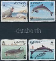 1990 WWF: Tengeri élővilág sor Mi 497-500 + 4 db FDC