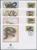 1993 WWF: Kígyók sor Mi 50-55 4 db FDC-n