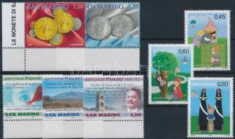 2004-2005 8 diff stamps, 2004-2005 8 klf bélyeg
