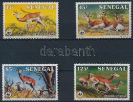 WWF Gazelle set + 4 FDC, WWF: Gazella sor + 4 FDC