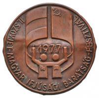 1977. II. Szovjet-Magyar Ifjúsági Barátság Fesztivál Br jelvény (52mm) T:2- hajlott