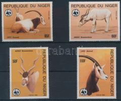 1985 WWF: Antilopok sor Mi 941-944 + 4 FDC