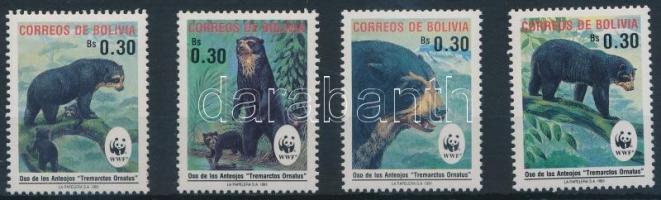 1991 WWF: Medvék sor Mi 1137-1140 + 4 FDC