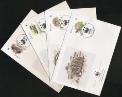 1991 WWF: Teknősök négyestömb Mi 2046-2049 + 4 FDC