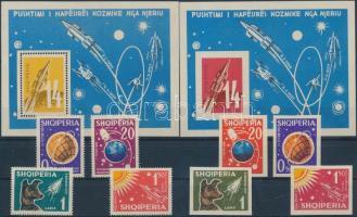 1962 Űrkutatás fogazott és vágott sor Mi 663-666, 668-671 + blokk 9-10