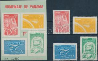1962 Űrkutatás sor Mi 633-636 + blokk 12