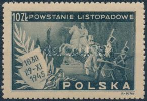 Az 1830-as novemberi felkelés évfordulója bélyeg, The November of 1830 Uprising anniversary stamp
