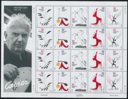 1998 Calder festmények kisív Mi 2943-2947