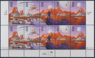1998 A világűr meghódítása ívsarki 10-es tömb Mi 3044-3048