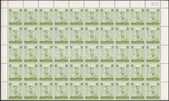 Definitive: King Bhumibol Aduljadeh folded complete sheet, Forgalmi: Bhumibol Aduljadeh király teljes ív kettőbe hajtva