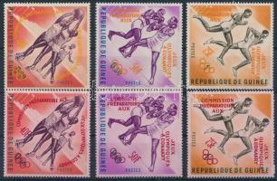 Pre-Olympic Games 2 sets with overprint vesrions, Előolimpiai sportjátékok 2 sor felülnyomás változatokkal