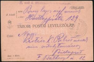 "Field postcard ""K. und k. Militärstationskommando"" + ""HP 129"", Tábori posta levelezőlap ""K. und k. Militärstationskommando"" + ""HP 129"""