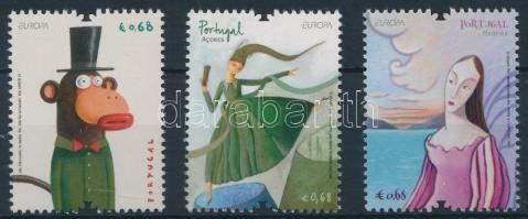 Portugal, the Azores, Madeira Europa CEPT, Children's Book, Portugália, Azori-szigetek, Madeira  Europa CEPT, Gyermekkönyvek
