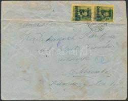 1945 (3. díjszabás) 2x Kisegítő 5P/8f távolsági levélen