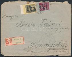 1945 (5. díjszabás) Távolsági ajánlott levél