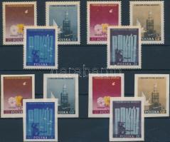 1955 Diáktalálkozó, bélyegkiállítás fogazott + vágott sor Mi 922-927 A-B