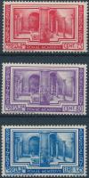 1938 Archeológia sor záróértékei Mi 70-72