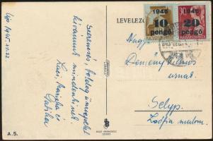 1945 (5. díjszabás) Távolsági képeslap