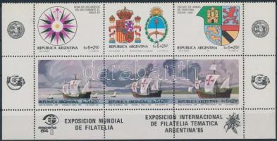 International Stamp Exhibition set corner block of 6, Nemzetközi bélyegkiállítás sor ívsarki 6-os tömbben