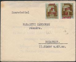 1945 (2. díjszabás) Cenzúrás távolsági levél tartalommal, bélyegzés nélkül