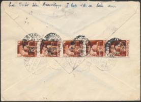 1945 (1. díjszabás) Cenzúrás utánküldött és visszaküldött távolsági levél