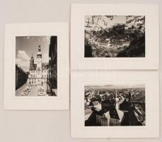 cca 1960 Bautzen 3 db igényes fotó, paszpartuban / cca 1960 bautzen 3 photos in paspartu 18x24 cm