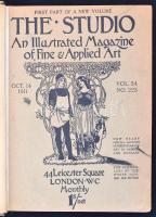 The Studio, An illustrated Magazine of Fine and Applied Art. Bekötött számok az 52-55 évfolyamokból.  Egy-két melléklet hiányzik. Korabeli vászonkötésben, számos érdekes műmelléklettel.