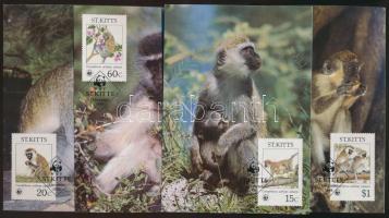 1986 WWF: Majmok sor Mi 184-187 4 db CM-n