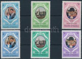 1981 Károly herceg és Diana hercegnő esküvője 2 klf sor Mi 928 A-930A, 928 C-930 C
