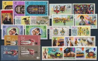 1973-1974 46 db bélyeg, közte sorok és 8 blokk