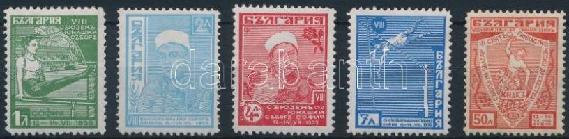 1935 Sportegyesületek Konferenciája Junak 5 érték Mi 280-283, 285 (Mi 284 hiányzik)