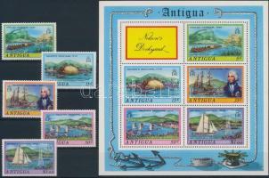 1975 Kikötő sor Mi 358-362 + blokk Mi 18