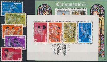 1975-1976 19 db bélyeg és 3 blokk