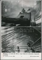 cca 1970 4 db MTI sajtófotó a metróépítésről 20x26 cm